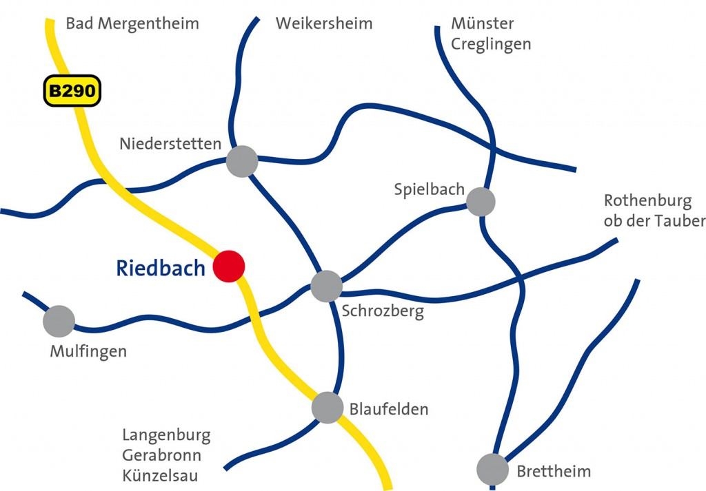 Übersichtskarte Schrozberg Riedbach